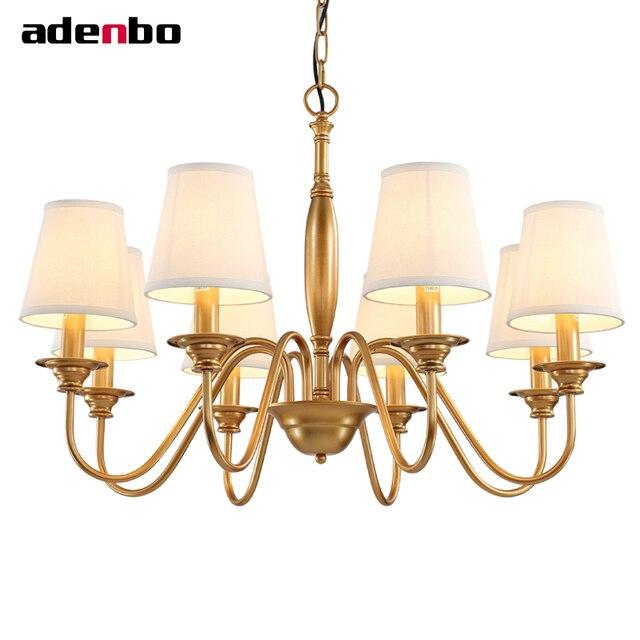 Stile americano oro Lampadari In Ferro Illuminazione A LED ...