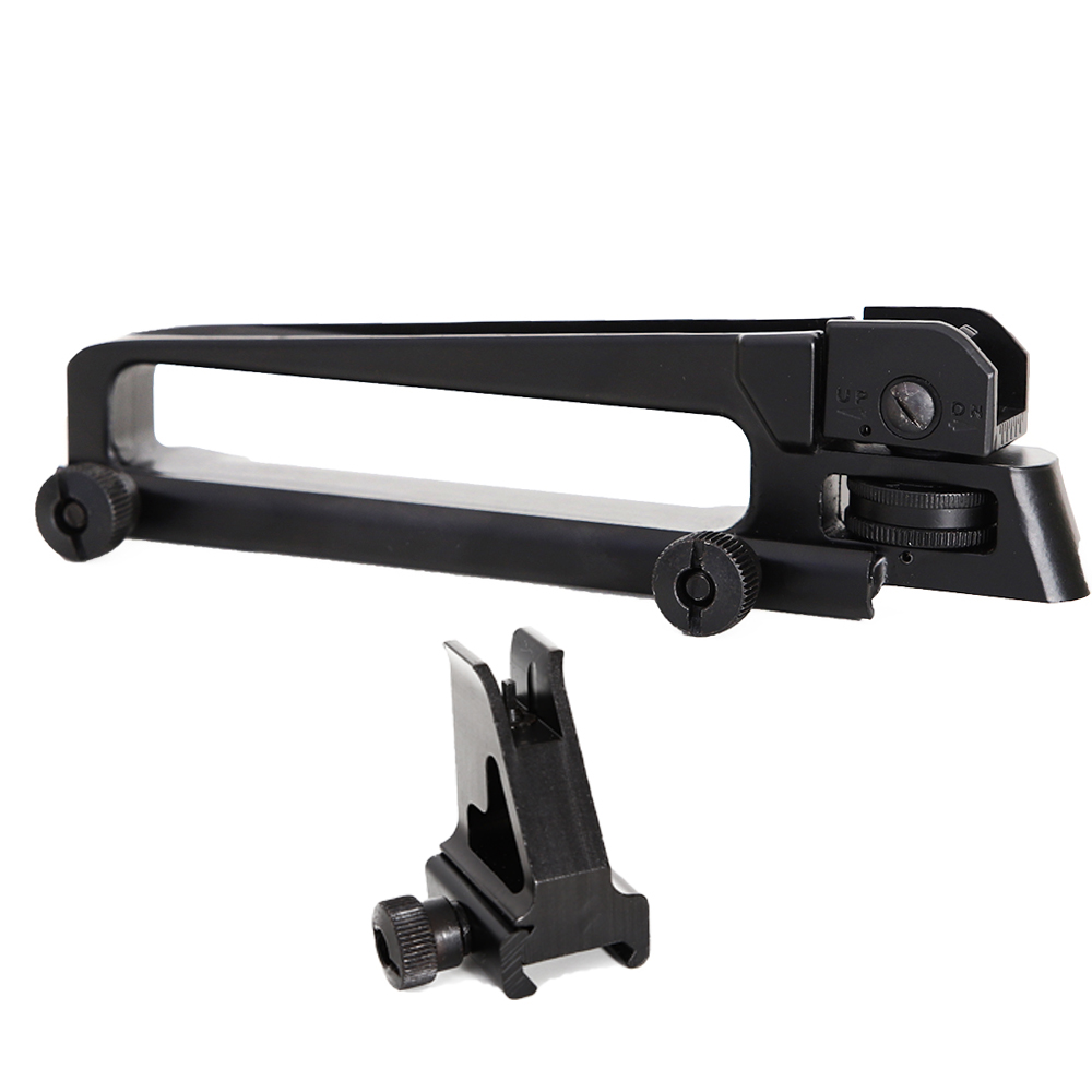 LOW Profile Detachable Adjustable Carry Handle Quick Release Mount With Aperture A2 Front Rear Sight For Tactical M4 M16 AR15