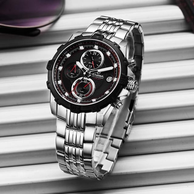 Fashion Luxury brand watches men casual charm luminous sport multi-function mens quartz wrist watch waterproof 100m CASIMA#8306