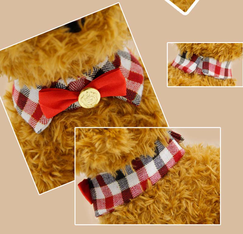 SYDZSW New Pet Products Puppy Dog Collar Bowtie Grace Plaid Pet Cat Dog Bowknot Collar Pet Clothing Accessories Dog Supplies S M L2