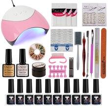 Nail Art Tool 36W UV Lamp & 6-12 Color Soak Off Gel Nail Top Base Coat Gel Nail Polish Kit Manicure Sets & Kits varnish Set цены