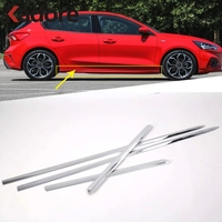 For Ford Focus 2019 2020 Sedan ABS Chrome Side Door Body Molding Line Cover Trim Protector Decoration Exterior Accessories