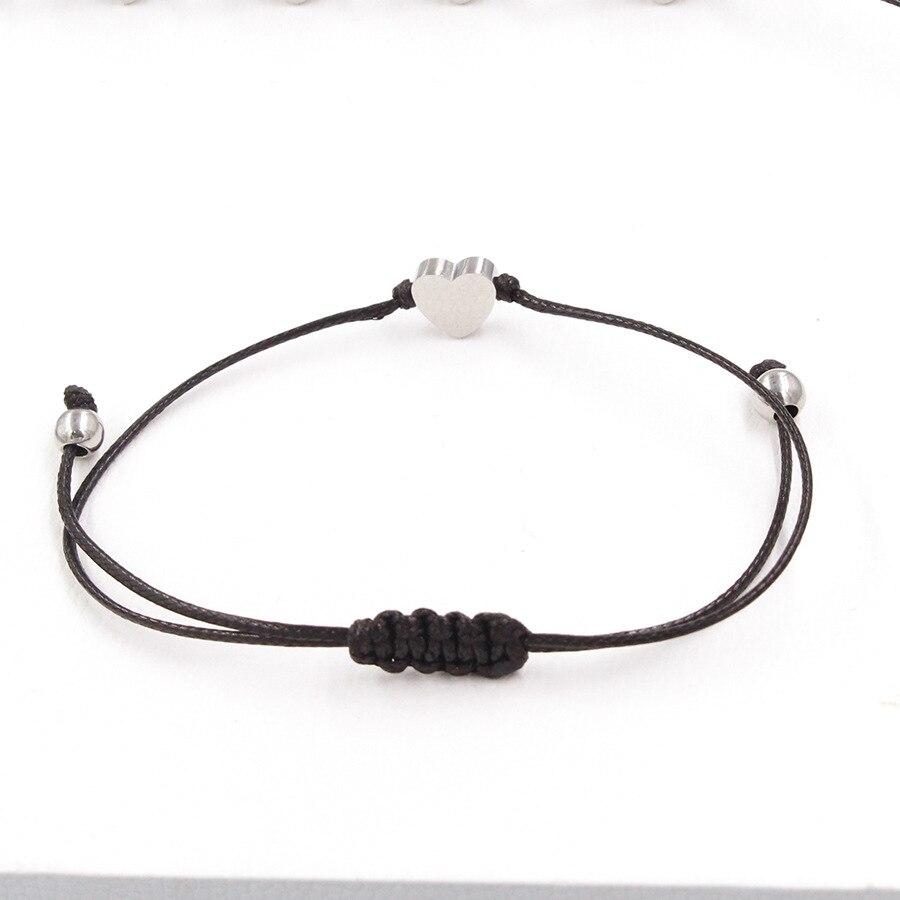 Banbracely mode edelstahl armband mit seil zwei farben availble für mädchen oder jungen mode schmuck