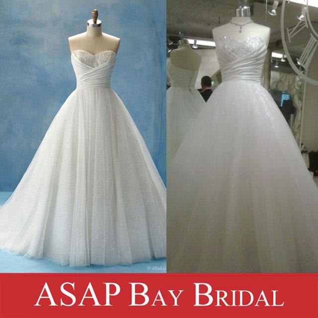 Sweetheart Beaded Cinderella Wedding Dress in Sparkly Tulle Wedding ...