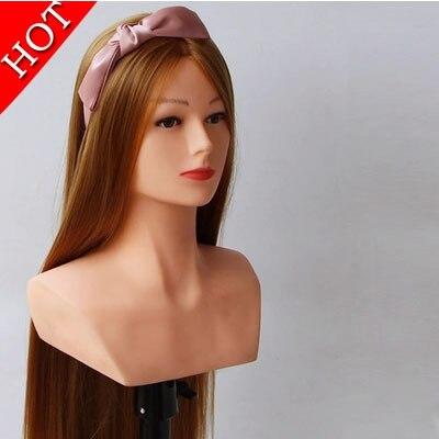 Nouveau Style tête de la formation tête de Mannequin avec des cheveux pour Salon de coiffure Mannequin
