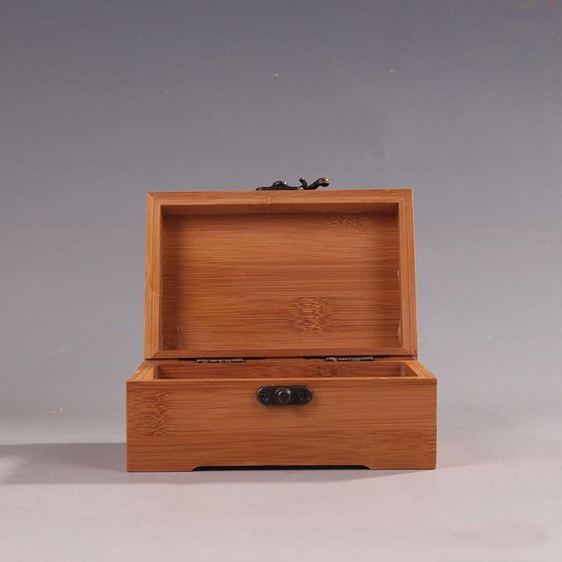 Vintage Kotak Perhiasan Makeup Organizer Kotak Penyimpanan Bambu