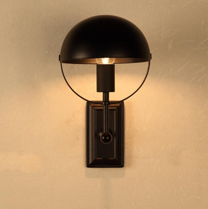 Loft American Village Personality Creative Wall Lamp Retro Bedside Balcony Stairs Aisle Industrial Wind Wall Light Free Shipping