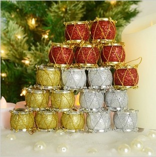 Christmas tree ornament MIni colorful shining drum