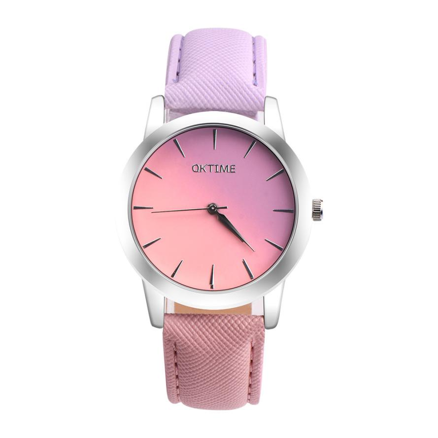 Women Watches Retro Rainbow Design Leather Band Analog Alloy Quartz Wrist Watch Bangle Bracelet Relogio Feminino reloj mujer ladies watch fashion math function pattern leather band alloy analog quartz vogue watches wrist watches for women reloj mujer