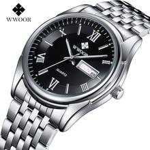 Marca de lujo de Los Hombres Reloj de Cuarzo Ocasional de Los Hombres Luminosos Horas Fecha Reloj Hombre Reloj Deportivo de Acero Inoxidable Reloj de Pulsera relogio masculino