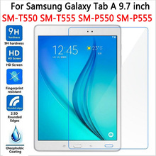 9H Screen Protector For Samsung Galaxy Tab A 9.7 T550 T551 T555 Tempered Glass For SM-T550 9.7 Tablet Protective Film detach wireless bluetooth keyboard case cover for samsung galaxy tab a 9 7 sm t550 t550 t555 p550 with screen protector film pen