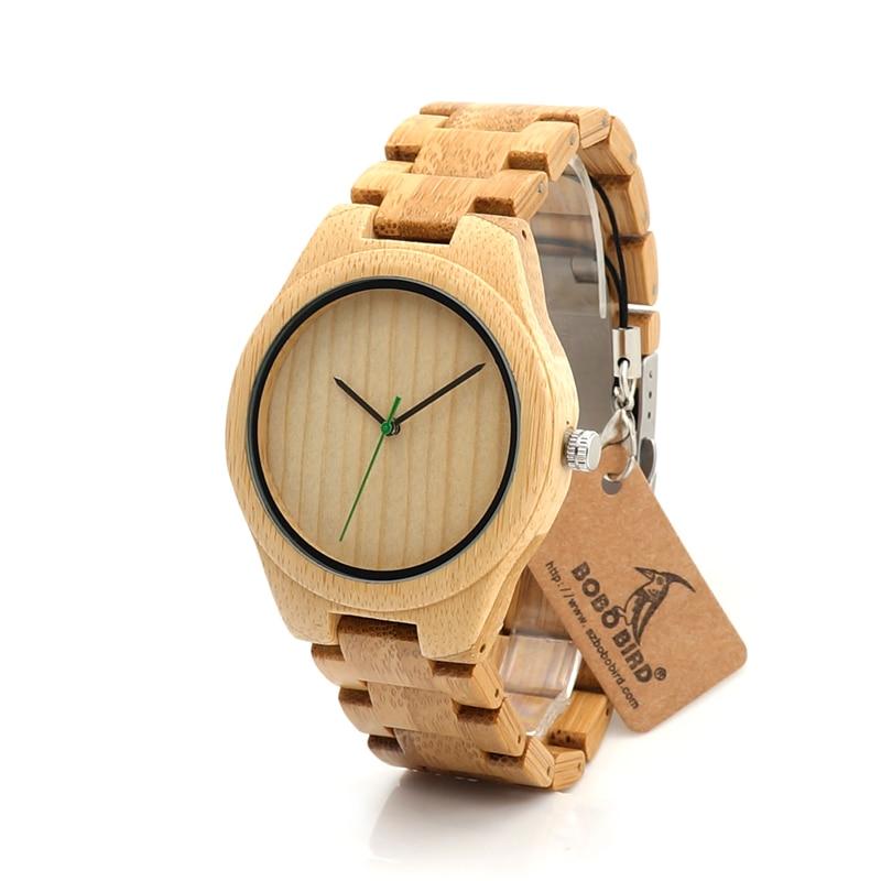 2017 New BOBO BIRD Fashion Brand Watches Men Bamboo Band Wooden Wristwatches Watch relogio masculino C-I27