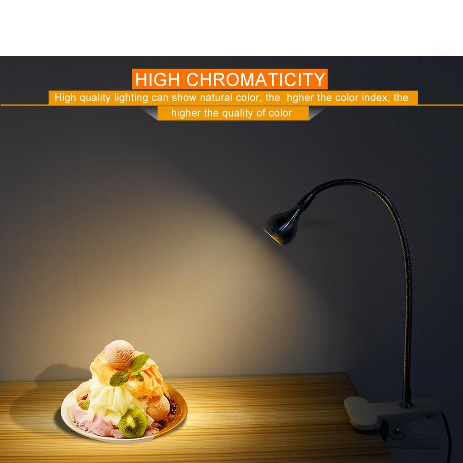 LED Desk Light With Clip USB Flexible Gooseneck Table Reading Lamp For Study Desktop Book Light 5V 3W Aluminum Desk Lamp USB