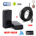 Free shipping!10M 5.5mm Endoscope Waterproof Inspection Camera 6 LEDs USB For Win7/XP/VISTA+WIFI BOX For IOS Android