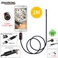 Negro Lente Del Animascopio Del Endoscopio de 5.5mm para el Teléfono Android HD 2 M Cámara de Inspección USB OTG Android 6 LED A Prueba de agua Endoscopio