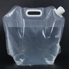 10L Collapsible Foldable Water Bag Container Clear Drink Water Storage Bucket Lifting Bag Hydration Bladder Outdoor Camp Hike