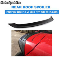 Golf 6 GTI R20 Modified OSIR Style Carbon Fiber With FRP Rear Roof Lip Spoiler Car Wing for Volkswagen Golf 6 R20 2010 2013