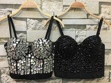 P160 Chất Lượng Tốt Mới Tay Kim Cương Ngọc Trai Bralet Corselets Nữ Áo Ngực Bra Crop Top Cưới Áo Bralette