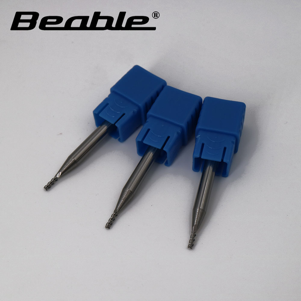 Beable tool 1.5*4*5*50MM three Flute end mill HRC45 aluminium milling cutters carbide cutting tools micro end mill bits