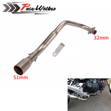 Motorcycle Exhaust System Vent Pipe Stainless Fit for HONDA MSX 125