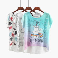 Women's Unicorn Asymmetric T-Shirt