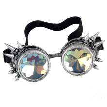 New Victorian Steampunk Goggle Glasses Welding Cyber Punk Spiked Gothic Cosplay