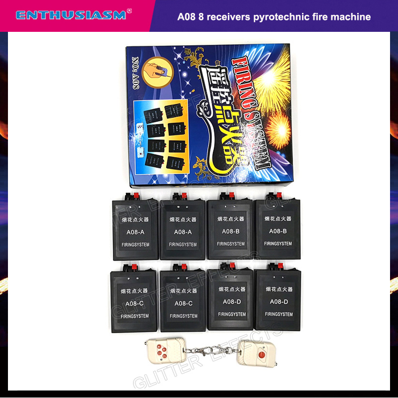 A08 8 Channel Wireless Remote Control Celebration Balloon Igniter Mini Fireworks Fire Device Machine For Wedding Party