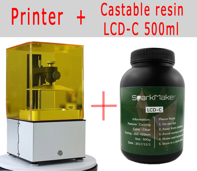 Tianfour new Jewelry No.1 UV SLA/DLP/LCD 3D printer 2k 45um high resolution Suitable for jewelry dentistry photon