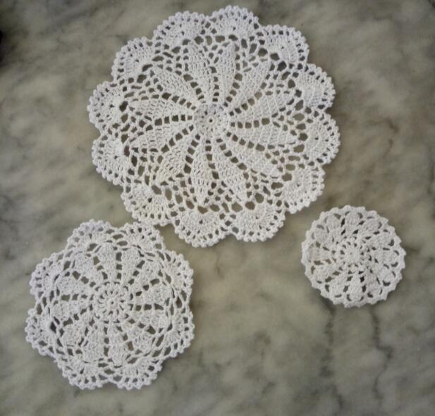 Modern cotton placemat cup coaster mug dining kitchen coffee table place mat cloth lace Crochet round doily tea Christmas pad in Mats Pads from Home Garden
