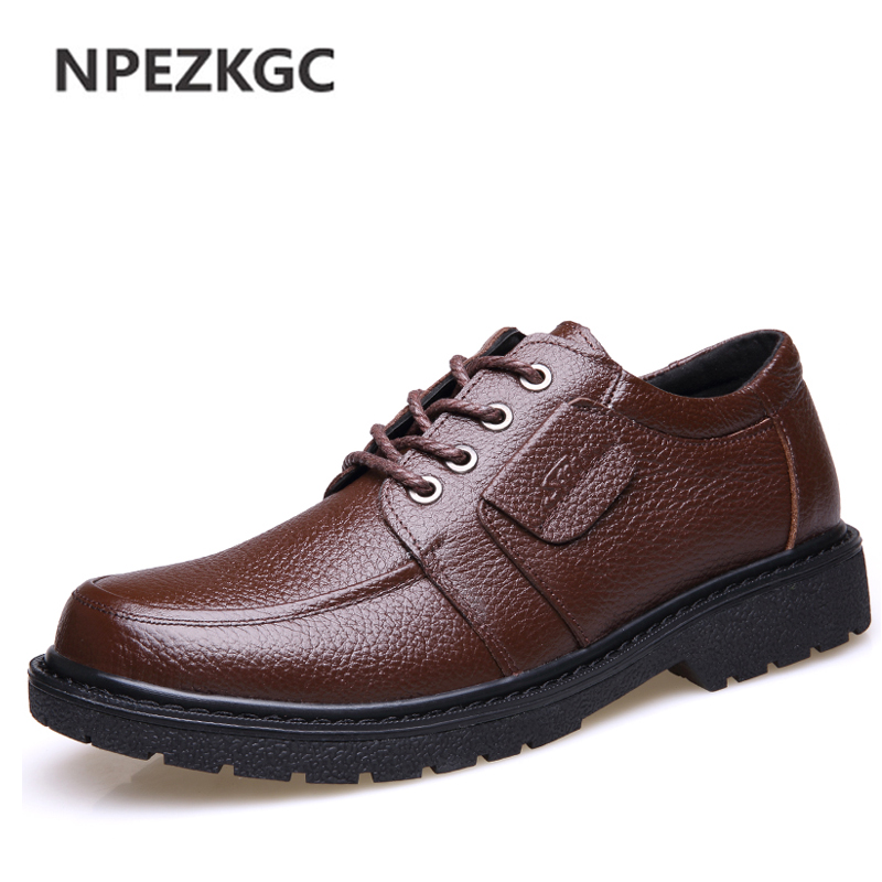 NPEZKGC Handmade Comfortable Classic Business England Mens Top Quality Genuine Leather Flats Mens Casual Oxford Shoes 2016 classic vintage mens heighten shoes genuine leather handmade comfortable outdoor shoes men flats for leisure business e1 page 6