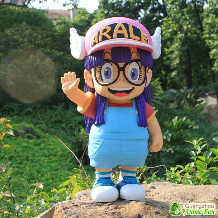 Anime rysunek zabawki Dr. spadek Arale z anioł skrzydło kapelusz 2 sztuk/zestaw Anime z PVC 40 cm, wysokość piękny kształt w Figurki i postaci od Zabawki i hobby na  Grupa 3