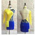 New Adult Child Latin dance costume senior spandex tassel latin dance dress for women/child latin dance  dresses S-4XL
