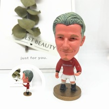 Soccerwe font b dolls b font figurine Sports stars Beckham 7 long hair Classic Movable joints