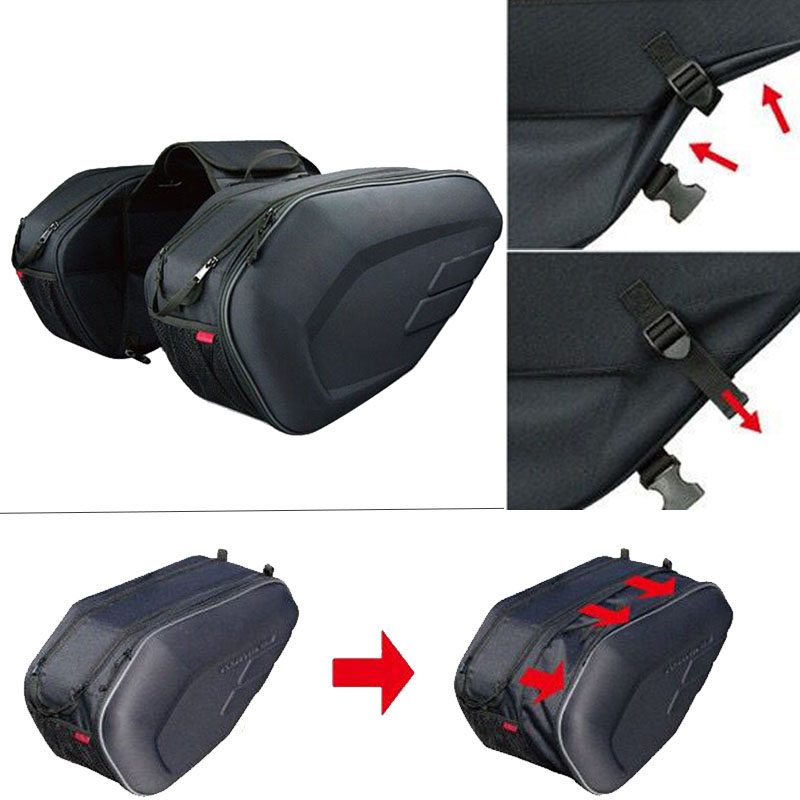 2018 New Universal fit Motorcycle Bags Luggage Saddle Bags with Rain Cover 36-58L For SUZUKI BOLOGNA kawasaki Motorcycle Parts кофры komine