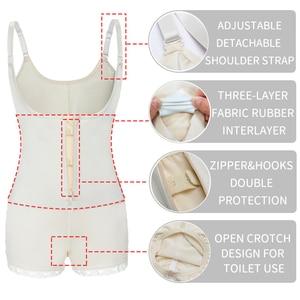 Image 4 - Miss Moly Latex Full Body shaper Modeling Shapewear Waist Cincher Underbust Bodysuit Jumpsuit Pants Zipper Slimming Corset