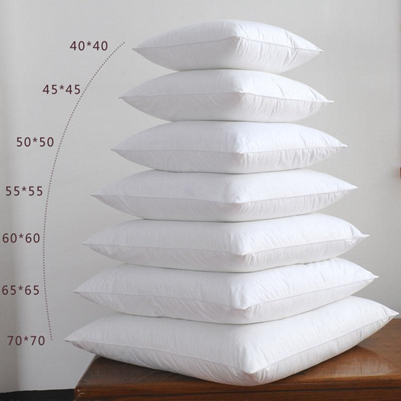White Cushion Insert Soft For Car Chair Down Alternative Throw Pillow Core Inner Seat Cushion Filling 40-75cm 40*40 45*45 75*75
