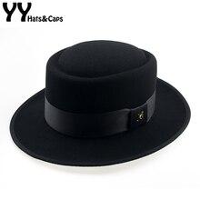 60 ซม.Fedora ผู้ชายฤดูใบไม้ร่วง Felt Pork Pie Crushable หมวก BREAKING BAD หมวก Walter ฤดูหนาว Retro Fedora หมวกคลาสสิก Church trilby YY18110