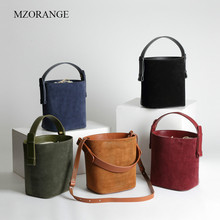 Genuine Leather Bags for Women 2019 New Smart Shoulder Straddle Tote Casual Bucket Cabbage Basket Grinded True Mini Bag