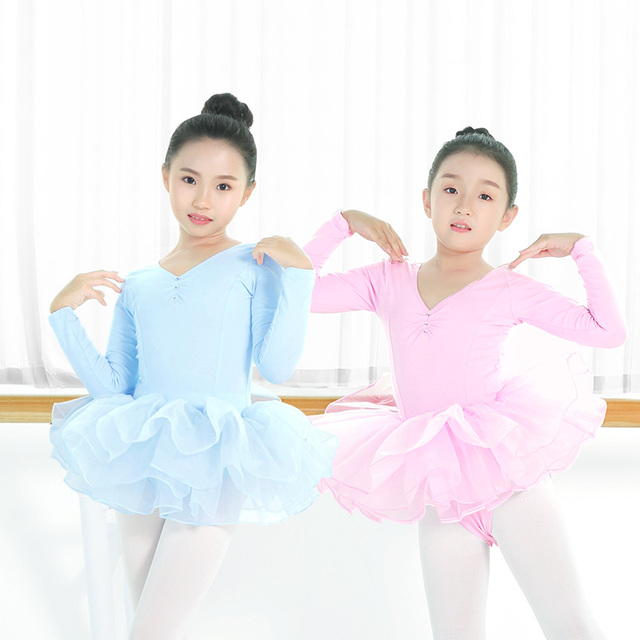 0c5f8b91e772 New Toddlers Long Sleeve Ballet Tutu Dress Kids Girls Ballerina ...