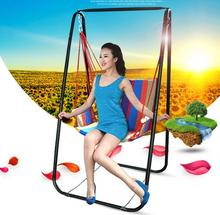 Hot selling portable outdoor adult breathable comfortable hammock swing indoor children hammock chair with metal foothold