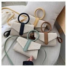 Luxury Crossbody Bags for Women Flap Tote Bag Shoulder Messenger Bag Handbag Bohemian Patchwork Women Straw  Bolsas De Mujer curved straw flap bag