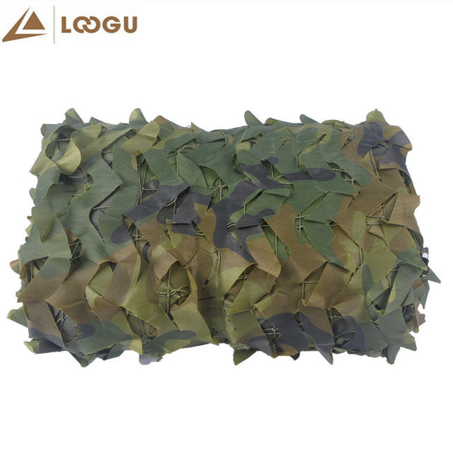1.5*3M Military Camouflage Net Sun Shelter Tourist Beach Tents 150D Polyester Camouflage Net Beach Sun Shelter Car-covers Awning