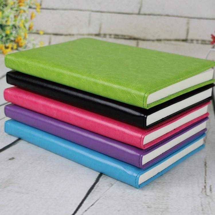 A5 100 Hojas Cuaderno de papel Bloc de notas Cuaderno diario de cuero Libro Zakka Agenda Agenda Escolar Oficina Papelería Suministros