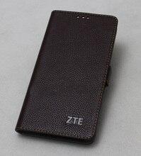 トップ品質 100% 牛 ZTE Axon 9 プロ革カバースリムフリップ電話スキンケース Zte ブレード v9 Axon 7 最大