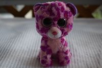 Ty Beanie Boos GLAMOUR Leopard Purple Cat Plush Big Glitter Eyes
