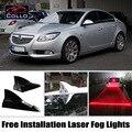 Luzes de advertência Para O Opel Insignia Saloon/Livre de Instalação Solar Barbatana de Tubarão energia Laser Fog Lamp/DIY Decoração Do Carro DIODO EMISSOR de luz