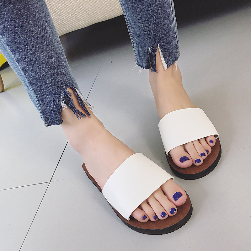 Mazefeng 2018 New Summer Women Casual Slippers Fashion Women Beach Slippers Outdoor Simple Solid Ladies Single Slides FlatsMazefeng 2018 New Summer Women Casual Slippers Fashion Women Beach Slippers Outdoor Simple Solid Ladies Single Slides Flats