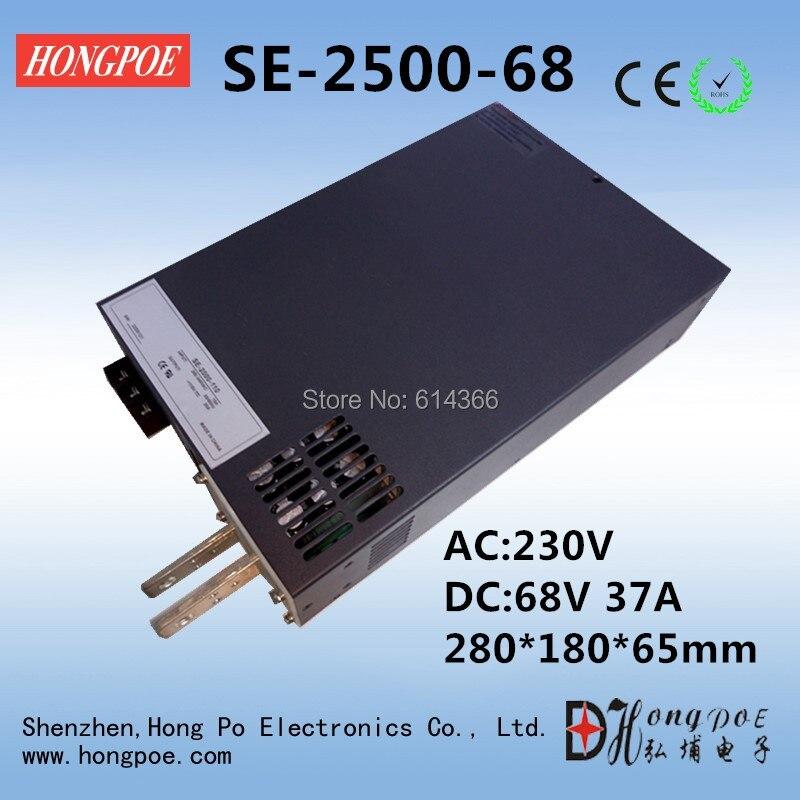 все цены на 2500W 37A 68V Power Supply SE-2500-68 AC to DC 68V PSU  switch mode Power Supply 68V 0-5V Analog Signal Control 0-68V 37A DC68V онлайн