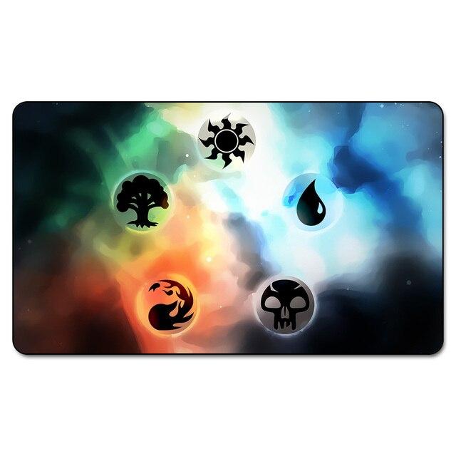 Many Choice Magic Card Games Custom Playmat Mgt Mana Symbols Playmat