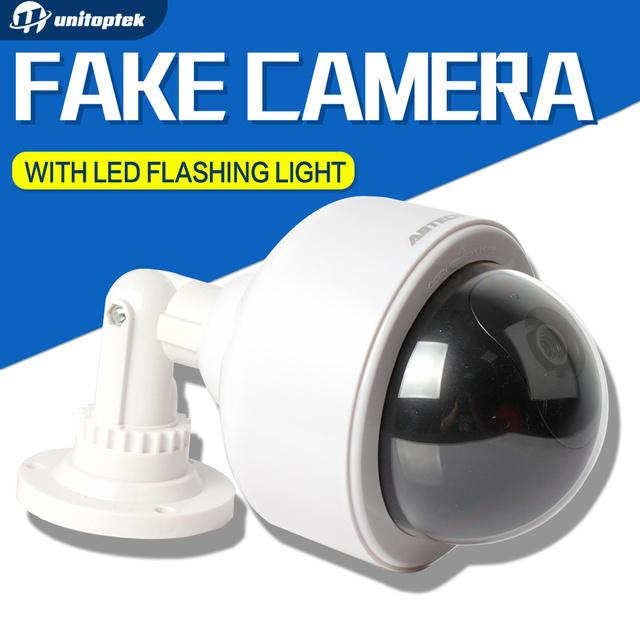 Falso Câmera AA Bateria Para O Flash LED Piscando Manequim Câmera de Segurança Dome Câmera de Vigilância CCTV Camara